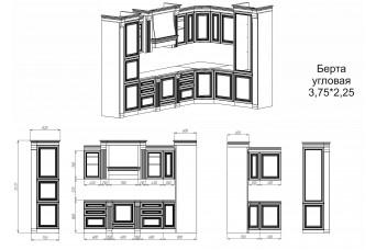 Кухня модульная Берта (угловая) 3,75х2,25